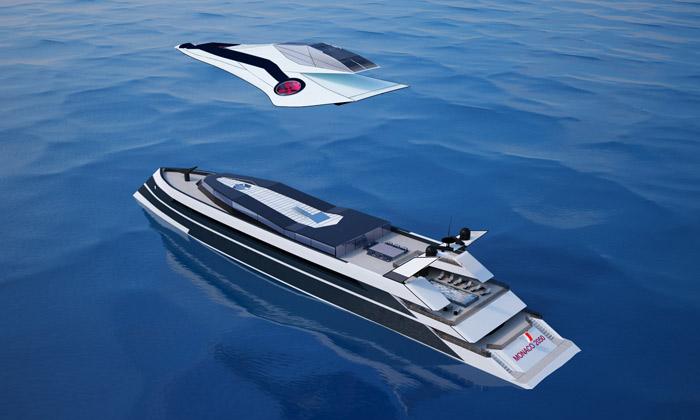 Футуристическая концепция летающей яхты «Monaco 2050»