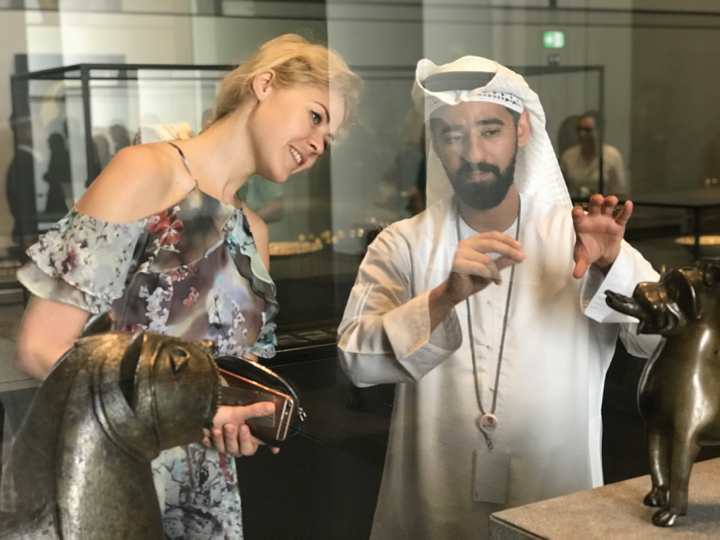 Kristina Moskalenko and Majed Al Hashly, Communications Unit Head (Louvre Abu Dhabi). Photo by Kemal Akhtar