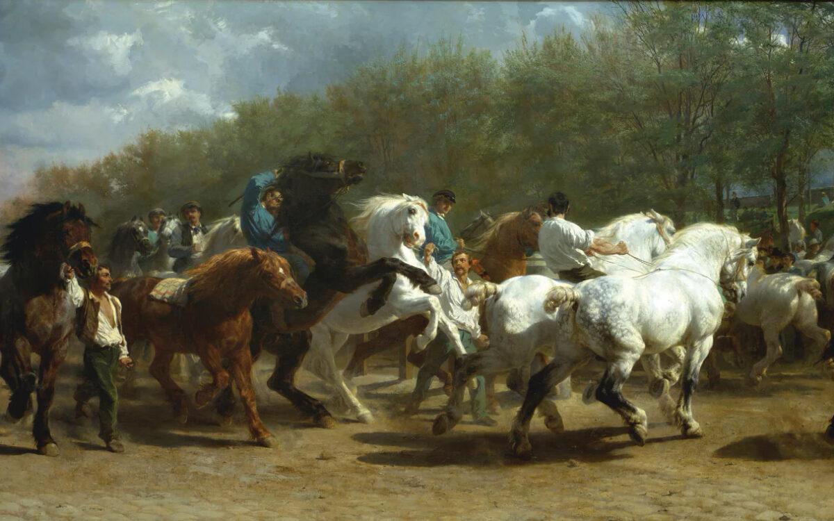 """Ярмарка лошадей"" (1853)"