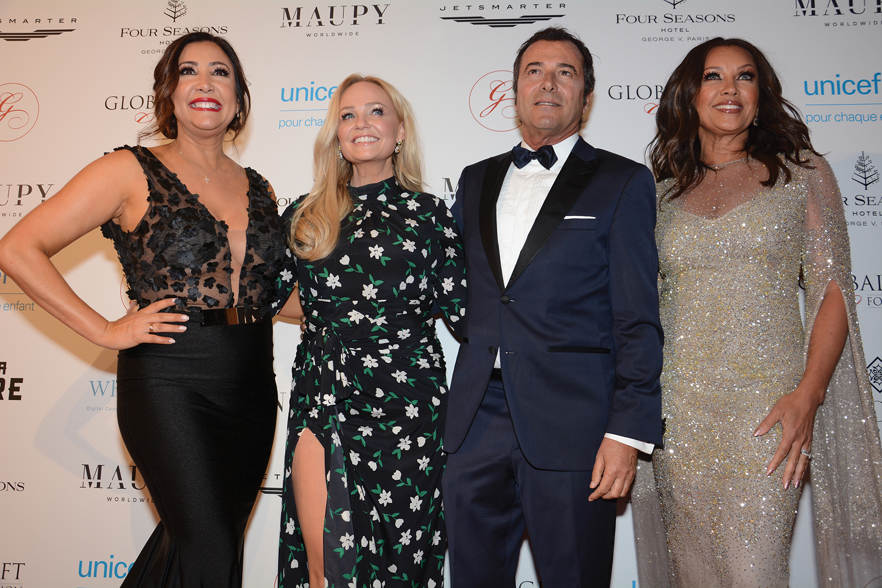María Bravo (Chair and CEO Global Gift Foundation), Emma Bunton (Global Gift Ambassador), Bernard Montiel and Vanessa Willians (Honorary Chair)