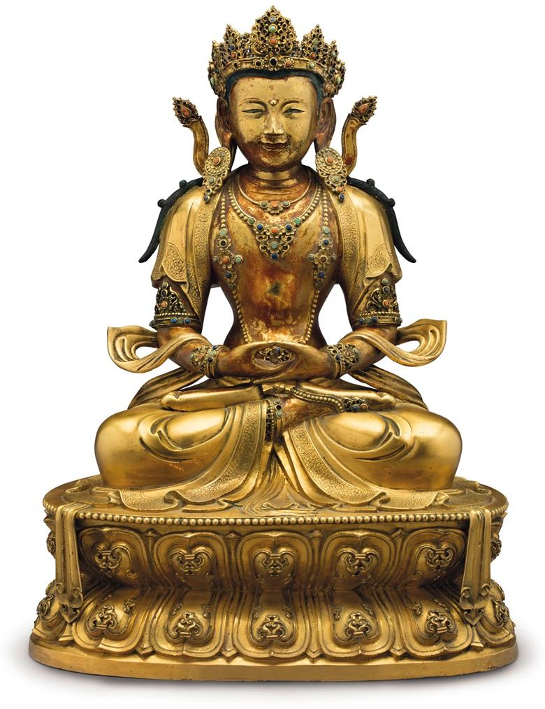 Императорская фигура Будды Амитаюса, XVII век