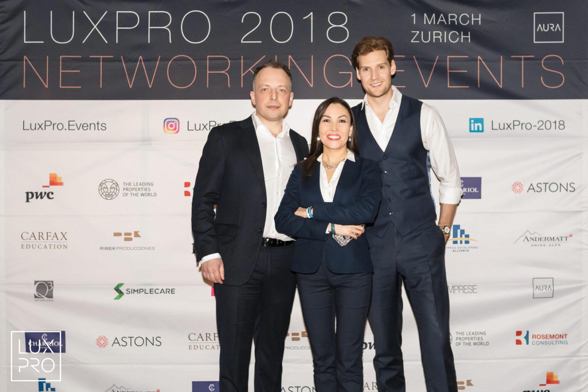 Акционеры и основатели LUXPRO Sergey Sander, Gulshat Uzenbaeva и модератор Alexander Johnson