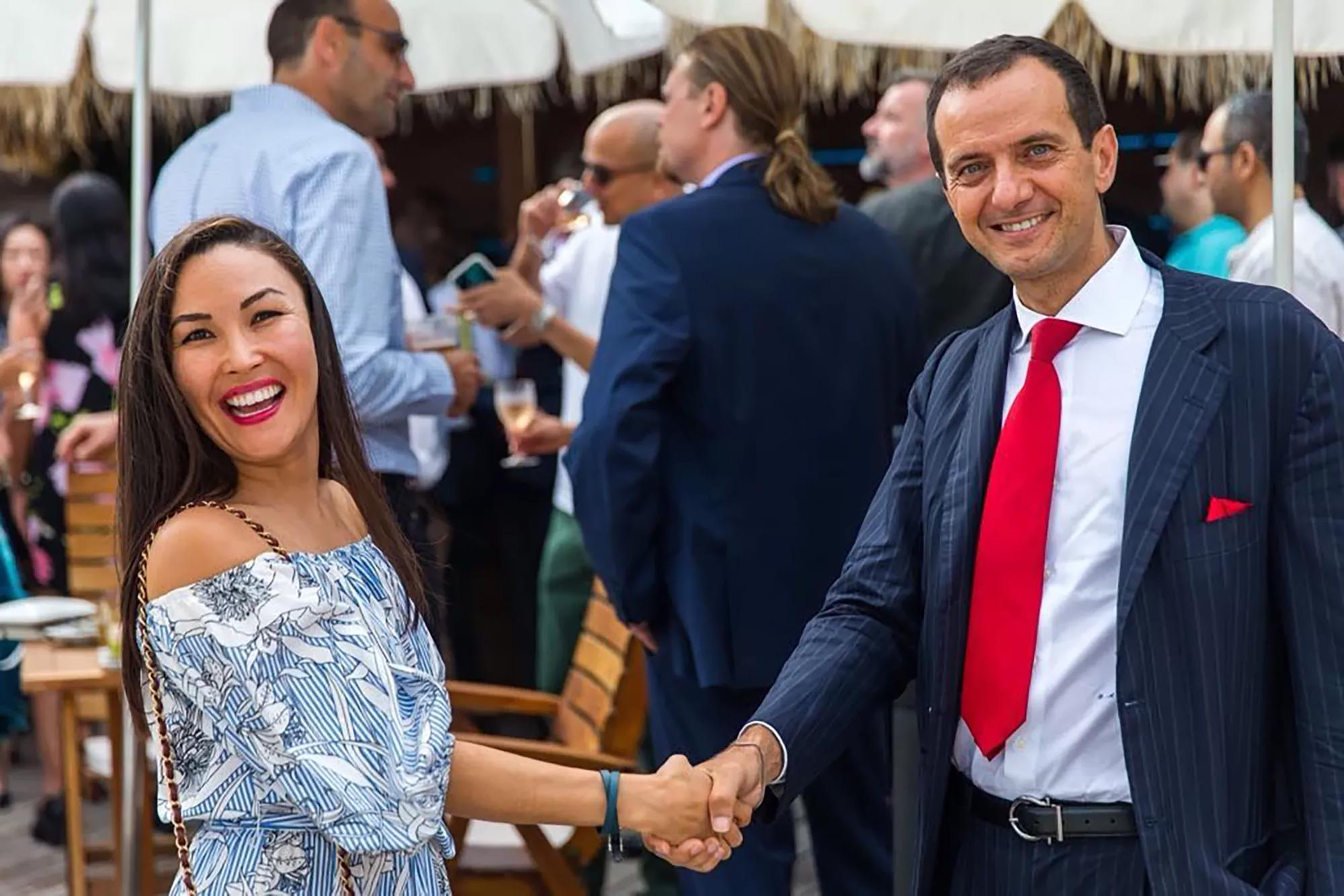 Gulshat Uzenbaeva, LUXPRO Founder, Giuseppe Ambrosio, President of the Monaco Single and Multi-Family office international association