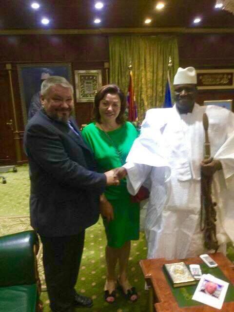 С Айя Джамме, экс-президентом Гамбии