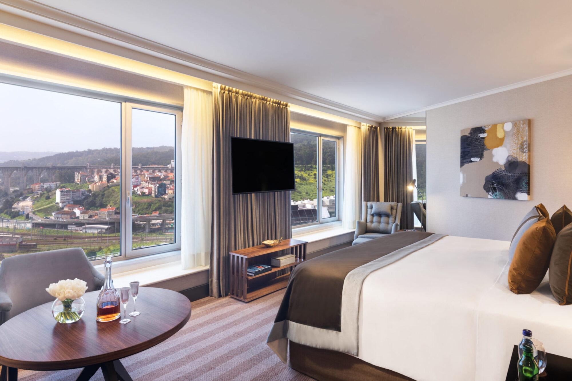 Corinthia Lisbon Deluxe Junior Suite Bedroom View