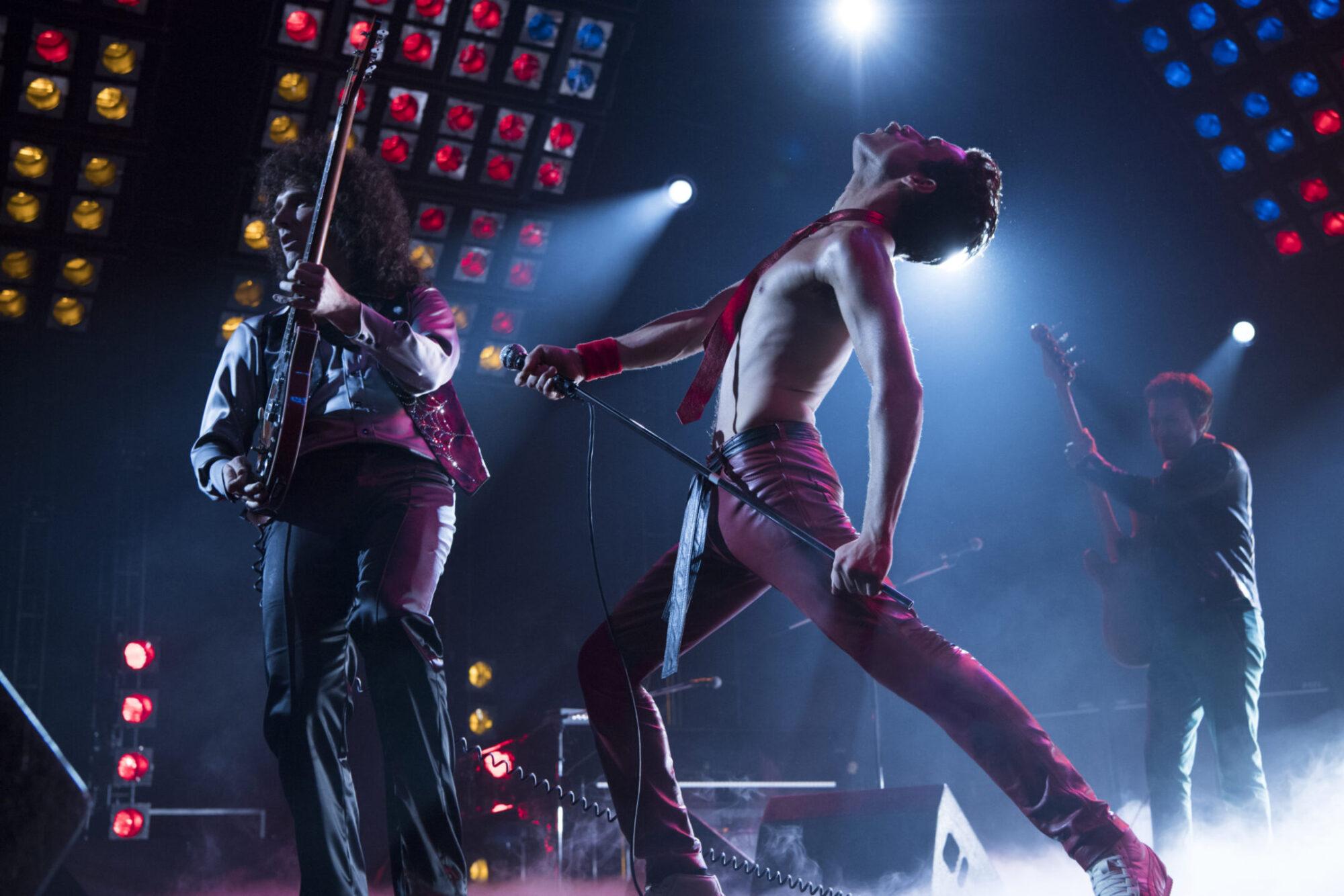 Rami Malek (Freddie Mercury) and Gwilym Lee (Brian May) star in Twentieth Century Fox's BOHEMIAN RHAPSODY. Photo Credit: Alex Bailey.