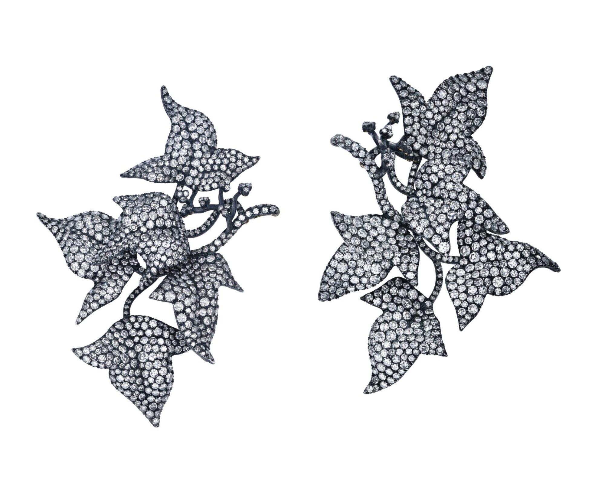 Diamond Ivy Leaves eaarings by JAR, estimate CHF400,000-600,000