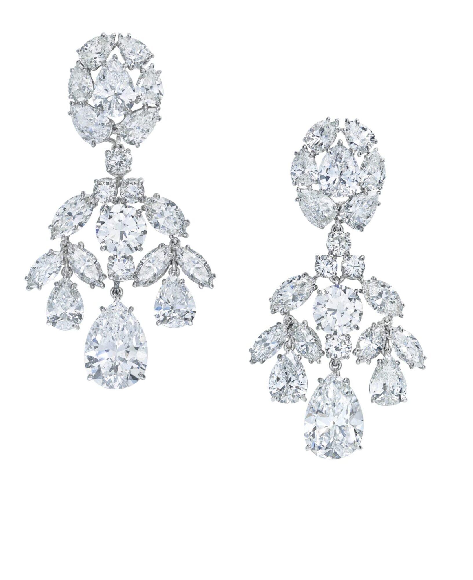 Diamond earrings by David Webb, estimate CHF