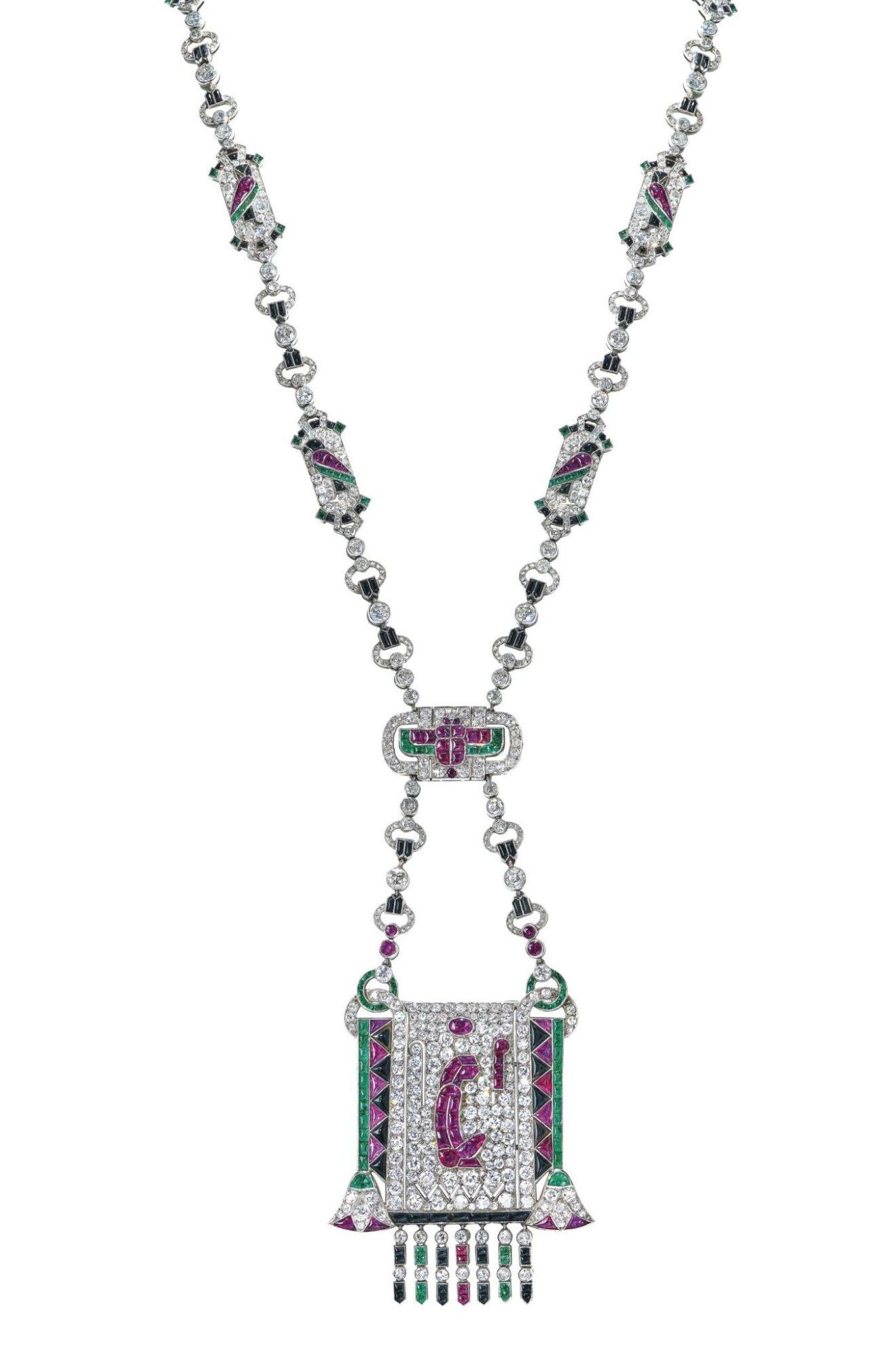 Egyptian revival pendant sautoir by Van Cleef&Arpels, estimate CHF2,000,000-3,000,000