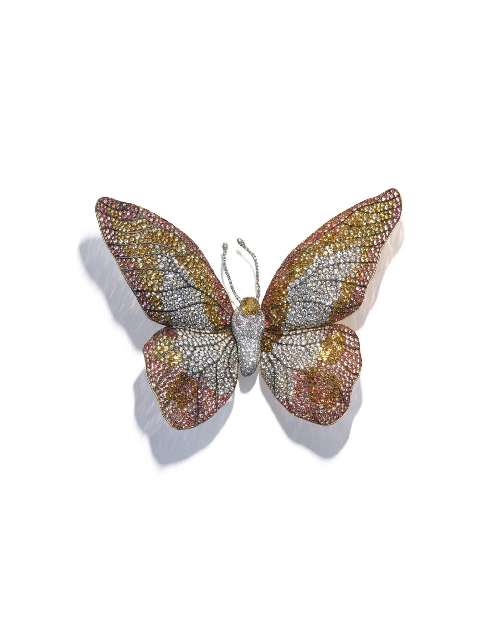 Multi-gem Butterfly brooch by JAR, estiamte CHF400,000-600,000
