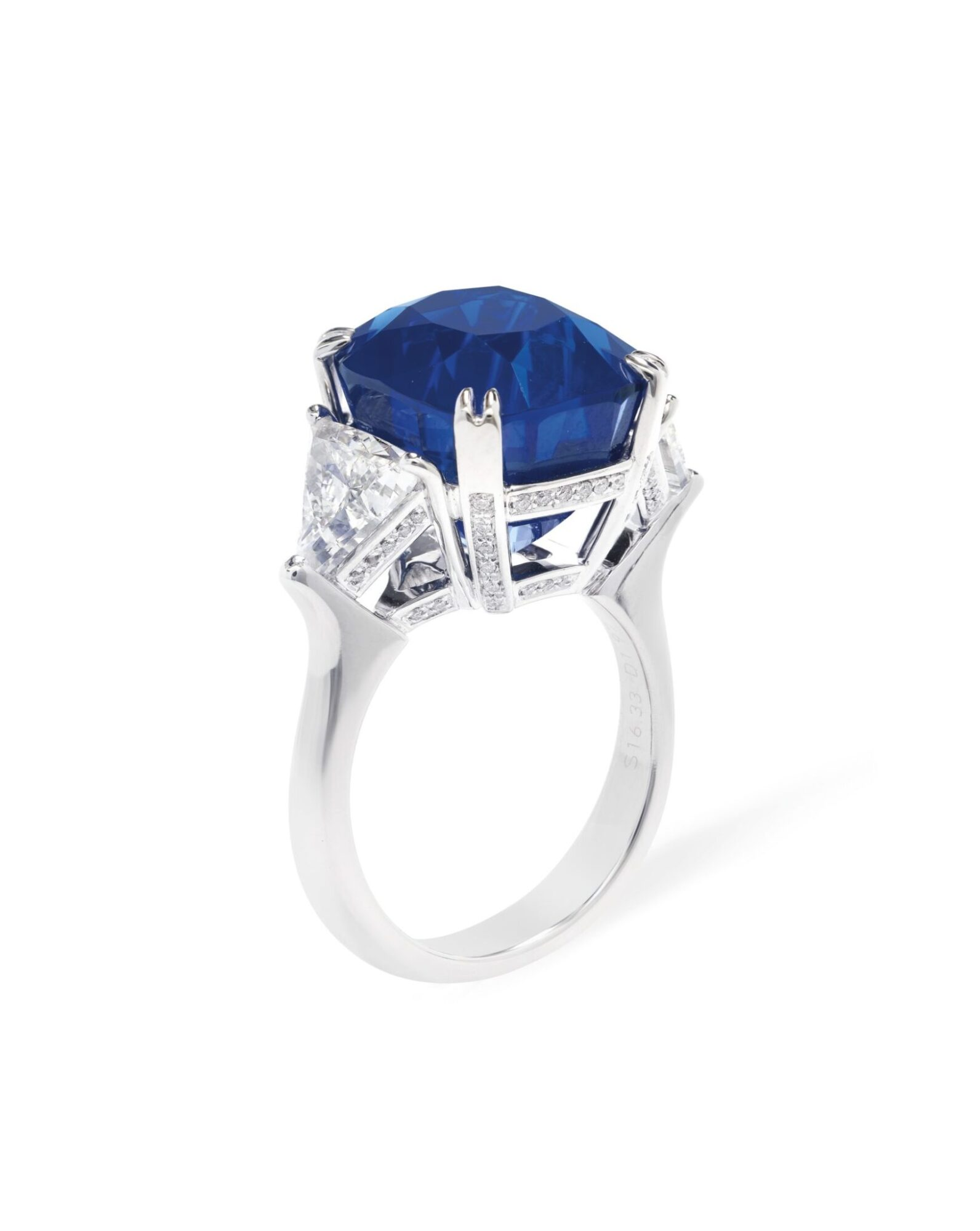 Sapphire and diamond ring of 16.33 cts, estimate CHF1,400,000-2,400,000