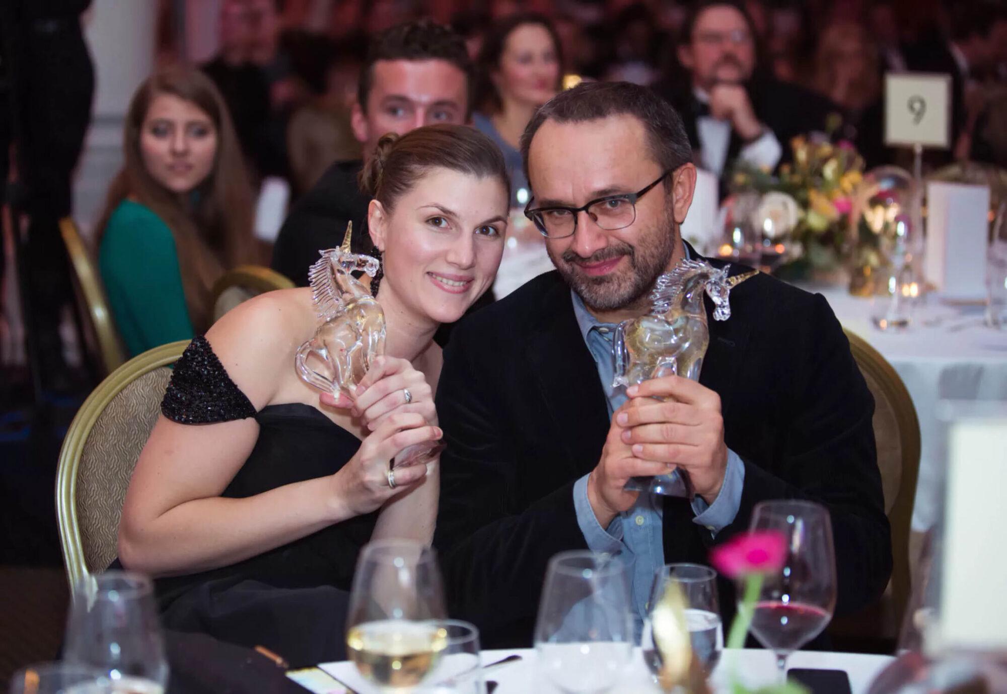 Золотой Единорог: Марьяна Спивак и Андрей Звягинцев, Лондон, 2017