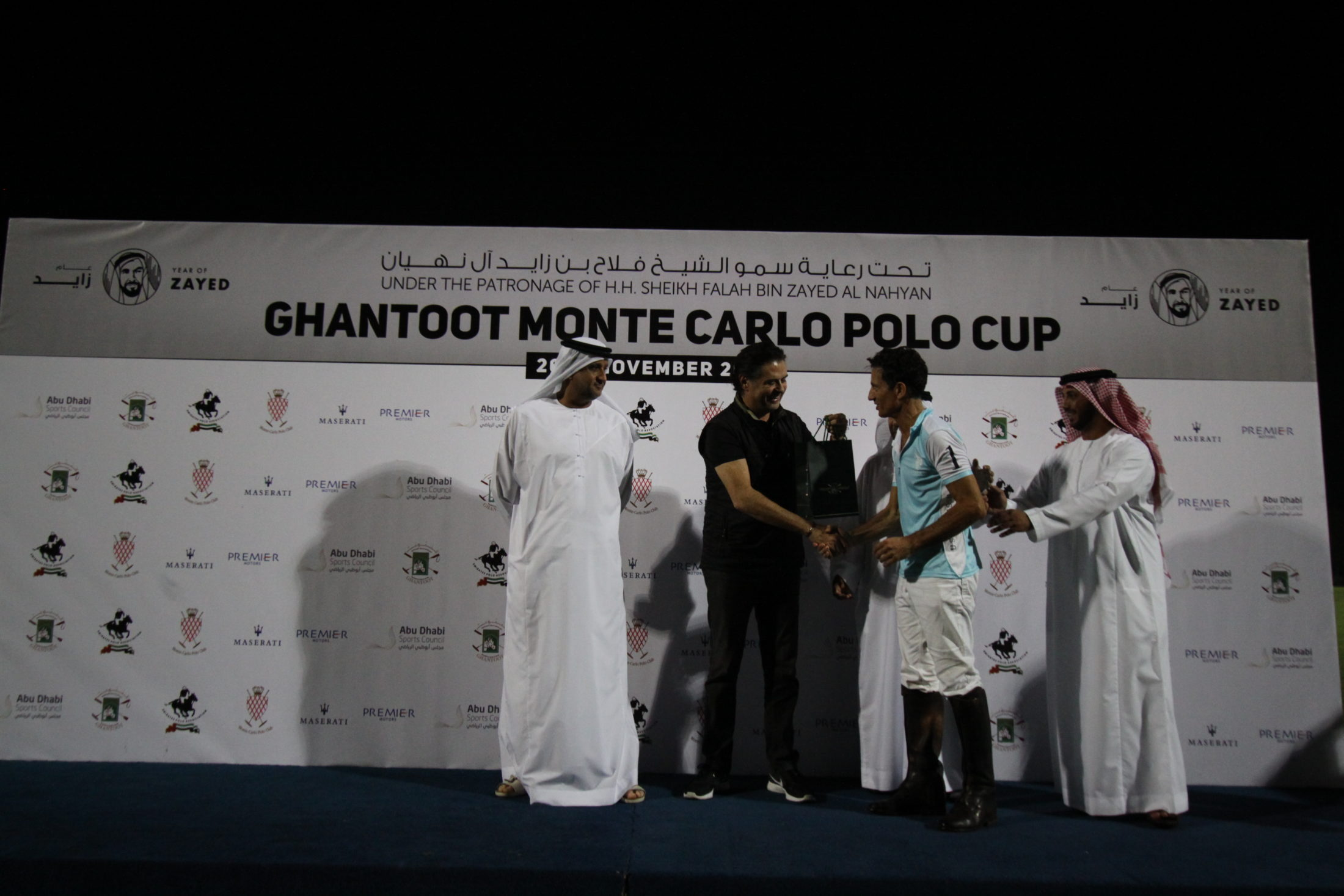 Present of The Monte-Carlo Polo Federation Francesco Mitrano receiving a prize