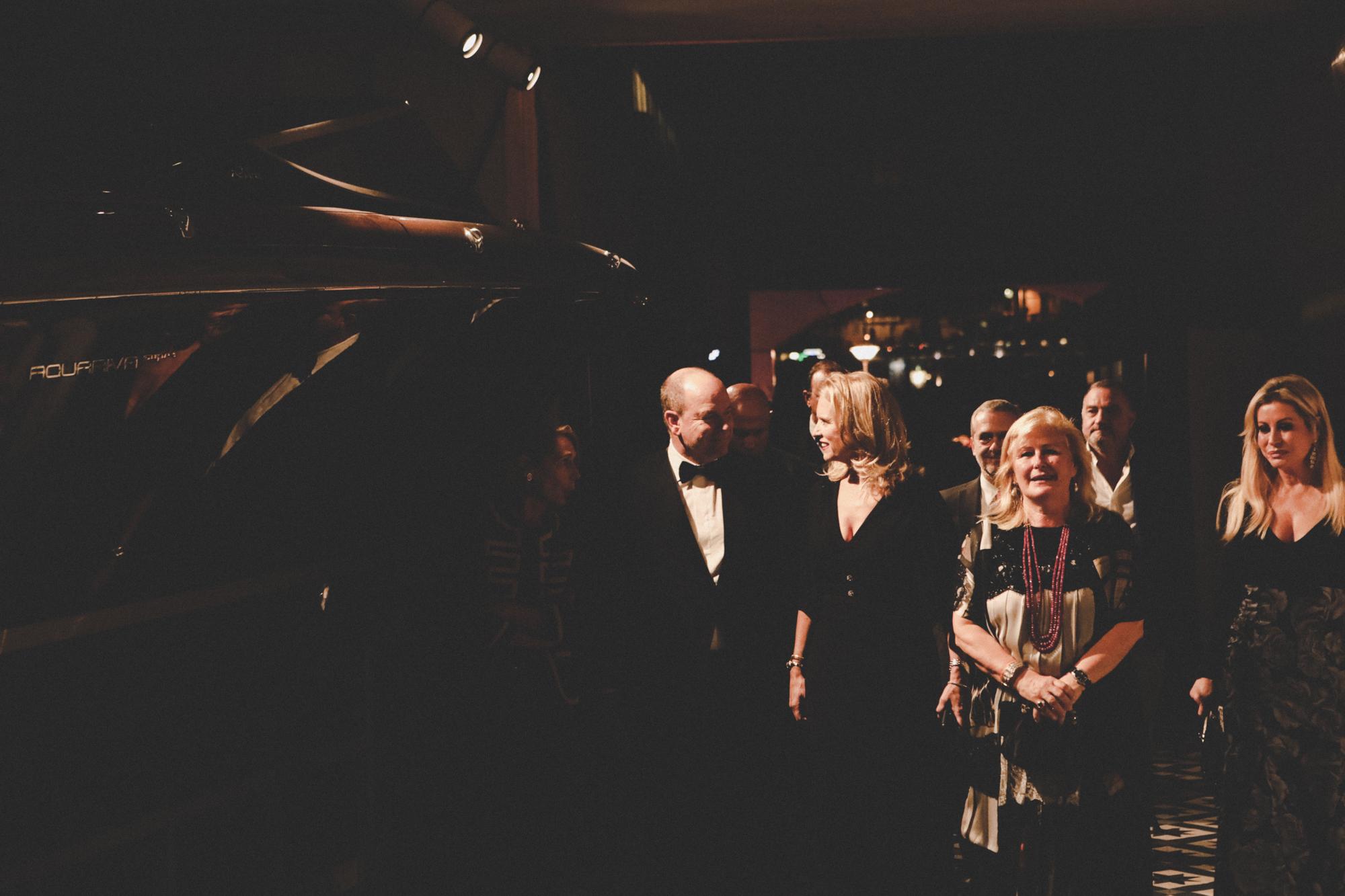 Evening in Monaco: Kennedy family