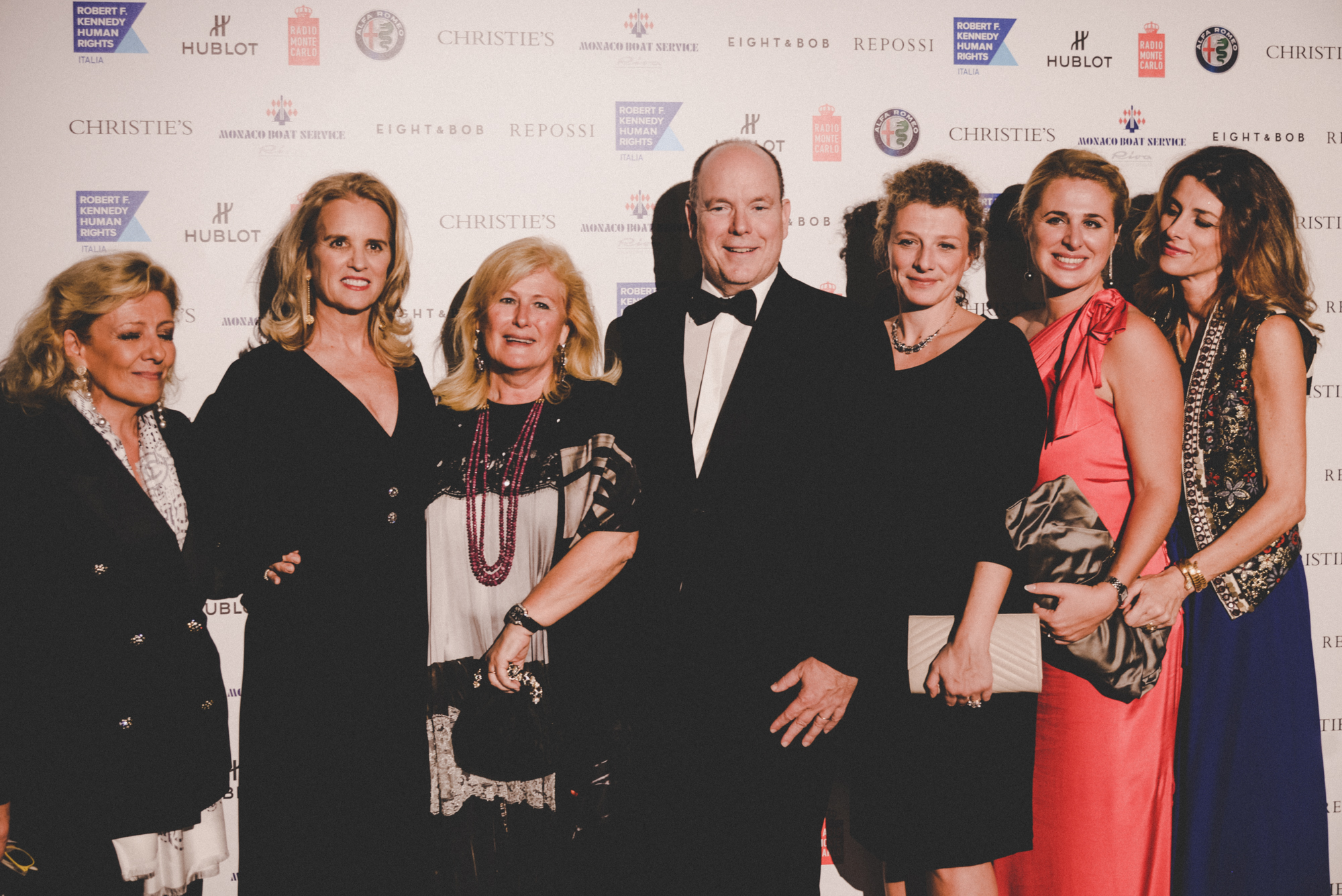 Kerry Kennedy, Prince Albert II of Monaco, Lia Riva and other guests