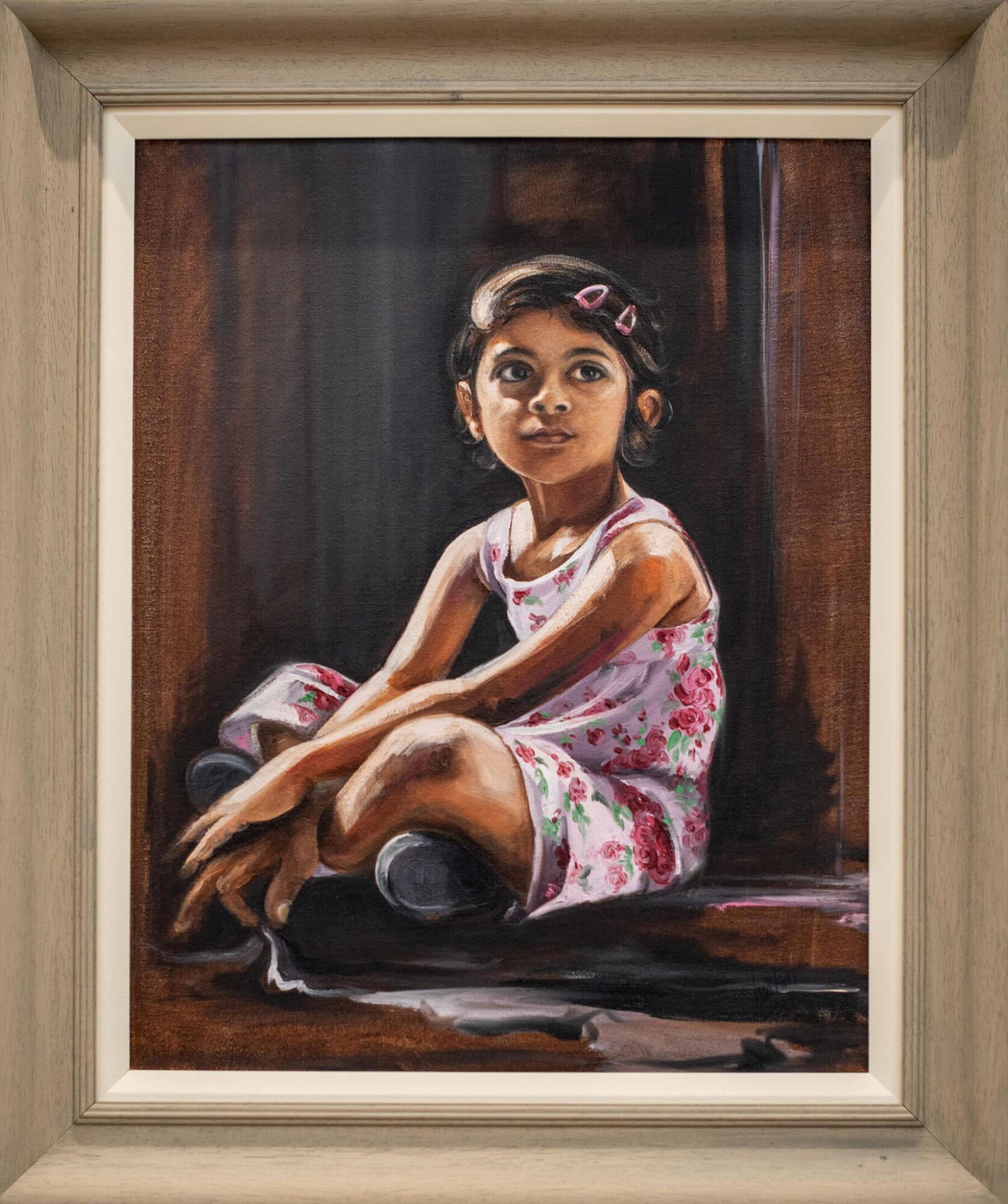 Waiting for Puppa, portrait of Kashvi my daughter, Tushar Sabale