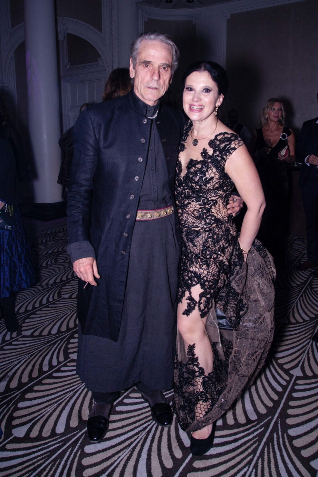 Jeremy Irons and Russian Icons Ballet Gala organiser Olga Balakleets