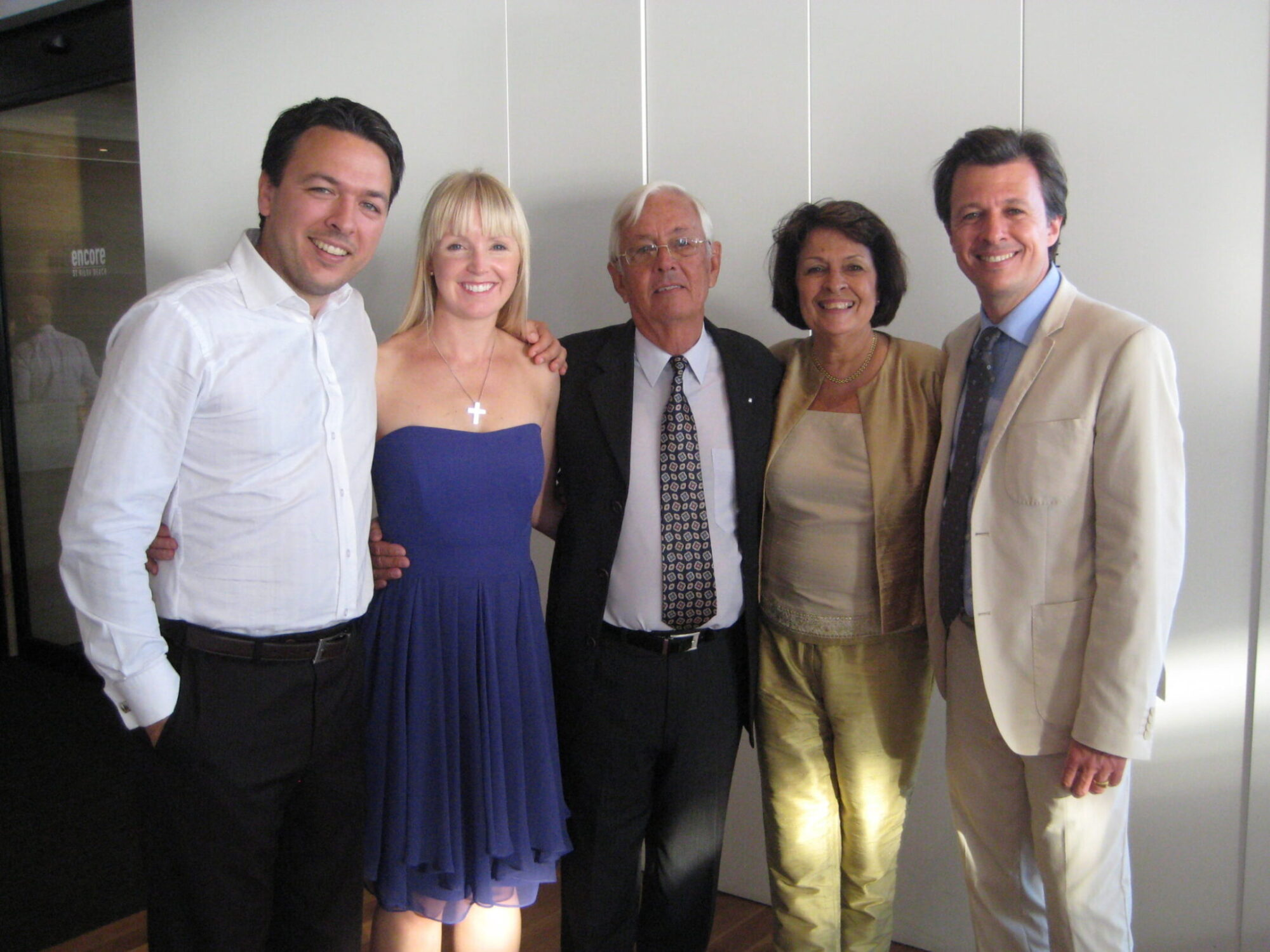 Family photo at a reception in Australia, 2012