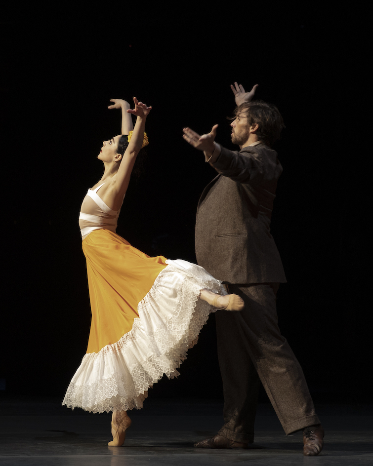 Maia Makhateli and James Stout in Frida. Photo Andre Uspenski