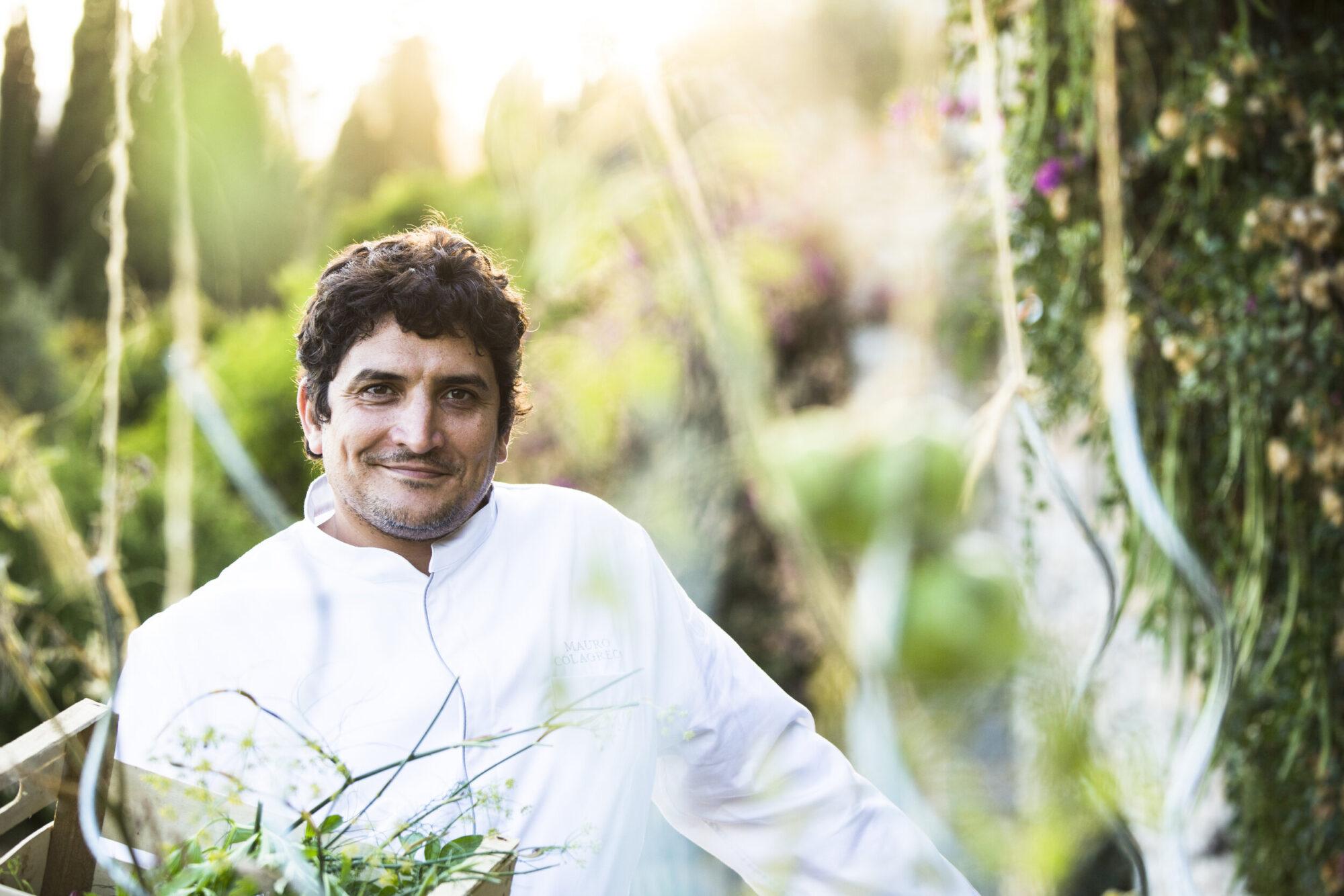 Chef Mauro Colagreco of the 3-star Michelin restaurant Mirazur in Menton, France